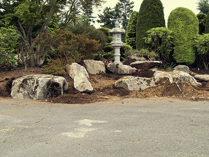 Making of a japanese garden before after for Japanese garden project